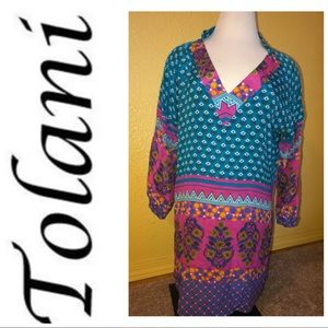 Tolani dress 100% silk